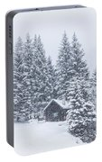 Huts And Winter Landscapes Portable Battery Charger