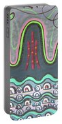 Ilwolobongdo Abstract Landscape Painting Portable Battery Charger