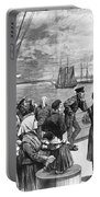 Immigrants On Ship, 1887 Portable Battery Charger