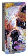 Impressionistic Bulldog Painting  Portable Battery Charger by Svetlana Novikova