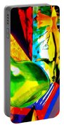 Intersections Abstract Collage Portable Battery Charger