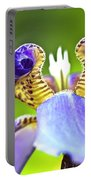 Iris Flower Portable Battery Charger by Heiko Koehrer-Wagner