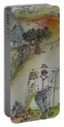 Italian  Landscape Scroll Portable Battery Charger
