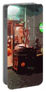 Italian Restaurant At Night Portable Battery Charger