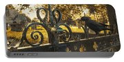 Jackdaw On Church Gates Portable Battery Charger