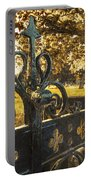 Jackdaw On Church Gates Portable Battery Charger by Amanda Elwell