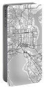 Jacksonville Florida Usa Light Map Portable Battery Charger