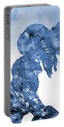 Jane And Tarzan-blue Portable Battery Charger