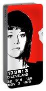 Jane Fonda Mug Shot - Red Portable Battery Charger