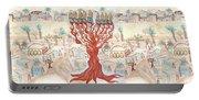 Jerusalem -watercolor On Parchment Portable Battery Charger
