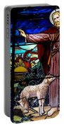 Jesus And Lambs Portable Battery Charger