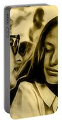 Joan Baez With Bob Dylan Portable Battery Charger