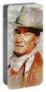 John Wayne By Mary Bassett Portable Battery Charger