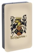 King Of England Coat Of Arms - Livro Do Armeiro-mor Portable Battery Charger