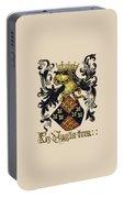 King Of England Coat Of Arms - Livro Do Armeiro-mor Portable Battery Charger
