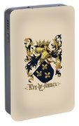King Of France Coat Of Arms - Livro Do Armeiro-mor  Portable Battery Charger