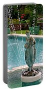 Lady In Fountain Portable Battery Charger