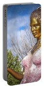 Lady In Pink Portable Battery Charger