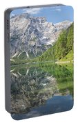 Lake Braies Portable Battery Charger by Yair Karelic