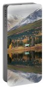 Lake Cabins In Fall Portable Battery Charger