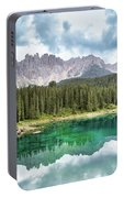 Lake Of Carezza - Italy Portable Battery Charger