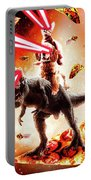 Laser Eyes Space Cat Riding Dog And Dinosaur Portable Battery Charger