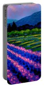 Lavender Field France Portable Battery Charger