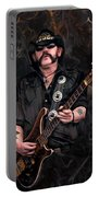Lemmy Kilmister With Guitar Portable Battery Charger