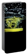 Lemon Dropped Into Water  Portable Battery Charger