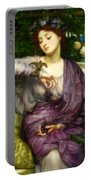 Lesbia And Her Sparrow Portable Battery Charger