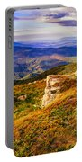 Light On Stone Mountain Slope With Forest Portable Battery Charger