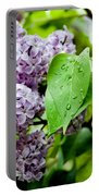 Lilac Drops Portable Battery Charger