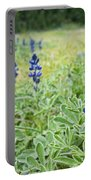 Lilac Flower In Green Canvas Spring Has Arrived 1 Portable Battery Charger
