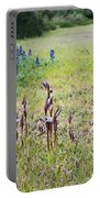Lilac Flower In Green Canvas Spring Has Arrived 2 Portable Battery Charger