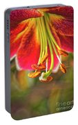 Lily Abstract Portable Battery Charger