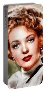Linda Darnell, Vintage Hollywood Actress Portable Battery Charger
