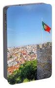 Lisbon Castle Flag Portable Battery Charger