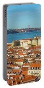 Lisbon Skyline Portugal Portable Battery Charger