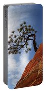 Lone Bonsai Tree In Zion Portable Battery Charger