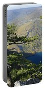 Look At The Pine Trees And The Lake Portable Battery Charger