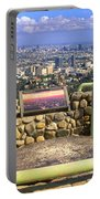 Los Angeles Skyline From Mulholland Portable Battery Charger