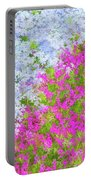 Pink And Purple Phlox Portable Battery Charger