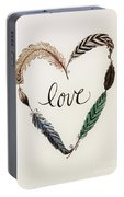 Feathers Of Love Portable Battery Charger