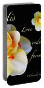Love Endures Forever Portable Battery Charger