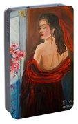 Lovely In Red Jenny Lee Discount Portable Battery Charger