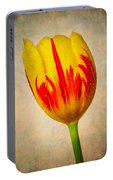 Lovely Textured Tulip Portable Battery Charger