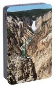 Lower Falls From Artist Point In Yellowstone National Park Portable Battery Charger
