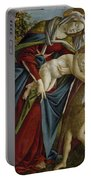 Madonna And Child And The Young St John The Baptist Portable Battery Charger