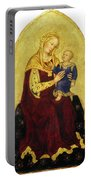 Madonna And Child Enthroned Portable Battery Charger