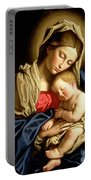 Madonna And Child Portable Battery Charger by Il Sassoferrato